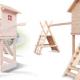 Drewniany plac zabaw dla dzieci.