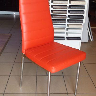 Krzesła Eko skóra czerwone